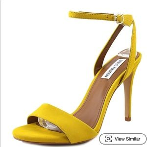 Steve Madden Reno Yellow Sandals size 9.5